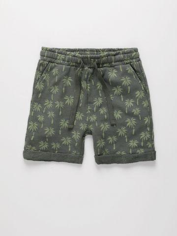 מכנסי טרנינג קצרים בהדפס עצי דקל / 6M-4Y של THE CHILDREN'S PLACE