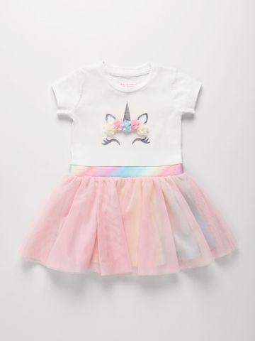 שמלת חד קרן בשילוב חצאית טול מולטי קולור / 6M-5Y של THE CHILDREN'S PLACE