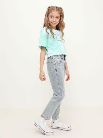 מכנסי ג'ינס פייפרבאג Mom Jeans של AMERICAN EAGLE