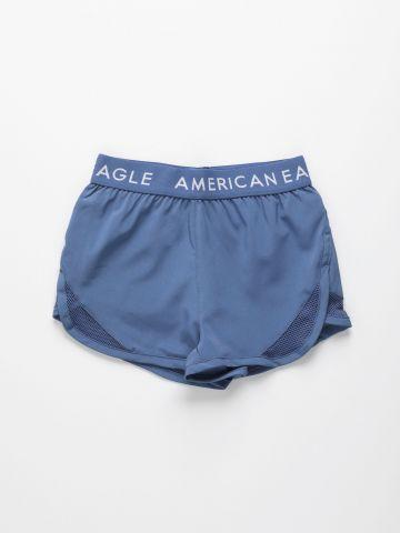 מכנסי אקטיב קצרים עם גומי לוגו / בנות של AMERICAN EAGLE