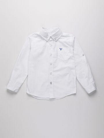 חולצת אוקספורד מכופתרת עם לוגו / בנים של AMERICAN EAGLE