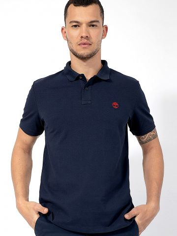 חולצת פולו עם לוגו / גברים של TIMBERLAND