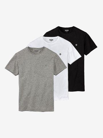 מארז שלישיית חולצות בייסיק עם לוגו / גברים של TIMBERLAND