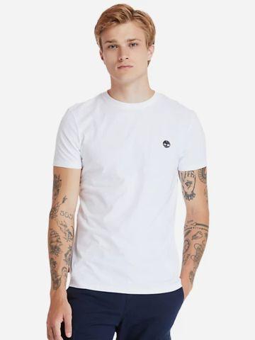 טי שירט עם לוגו Slim-Fit של TIMBERLAND