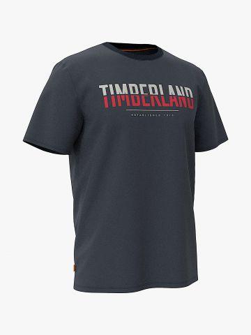 טי שירט עם הדפס לוגו / גברים של TIMBERLAND