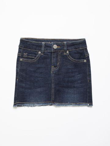 חצאית ג'ינס בסיומת פרומה / בנות של AMERICAN EAGLE