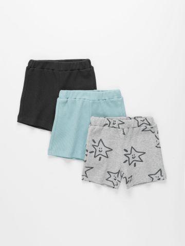 מארז 3 מכנסי וופל קצרים בצבעים שונים / 3M-4Y של TERMINAL X KIDS