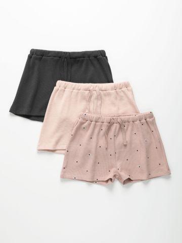 מארז 3 מכנסיים קצרים מבד וופל / 3M-8Y של TERMINAL X KIDS