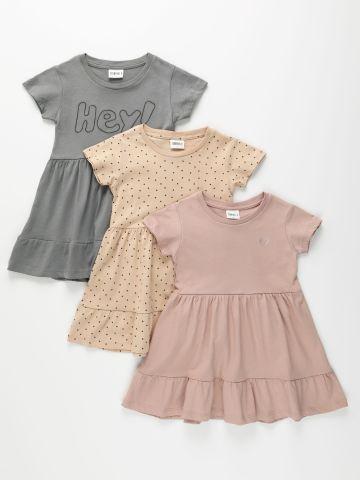 מארז 3 שמלות בצבעים שונים / 3M-8Y של TERMINAL X KIDS