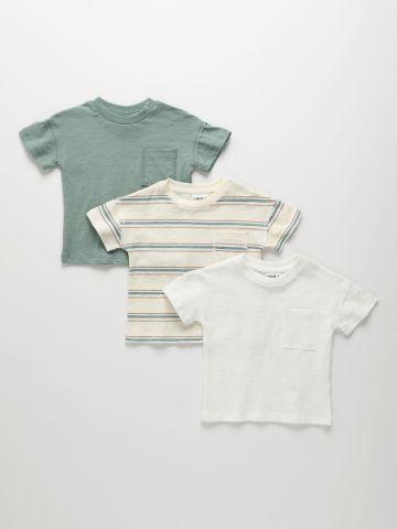 מארז 3 חולצות טי שירט עם כיס / 3M-14Y של TERMINAL X KIDS