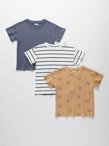 מארז 3 חולצות בצבעים שונים / 3M-4Y של TERMINAL X KIDS