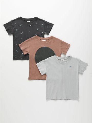 מארז 3 חולצות בצבעים שונים / 3M-6Y של TERMINAL X KIDS