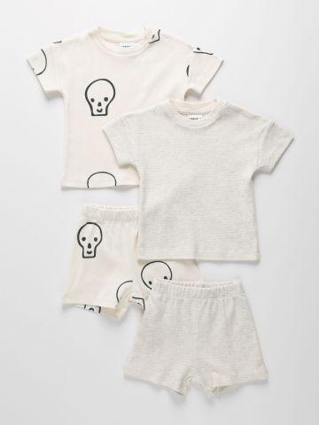 מארז 2 סטים טי שירט ומכנסיים קצרים בצבעים שונים / 6M-10Y של TERMINAL X KIDS