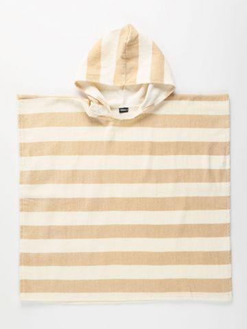 מגבת רחצה בהדפס פסים עם קפוצ'ון / בייבי של TERMINAL X KIDS