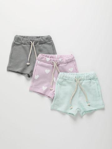 מארז 3 מכנסי פרנץ' טרי קצרים / 3M-10Y של TERMINAL X KIDS