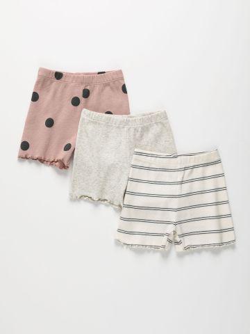 מארז 3 מכנסיים קצרים ריב בסיומת גלית / 3M-10Y של TERMINAL X KIDS