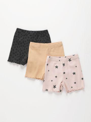 מארז 3 מכנסי ריב קצרים / 3M-10Y של TERMINAL X KIDS