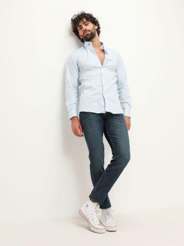חולצה מכופתרת עם שרוולים ארוכים של TERMINAL X