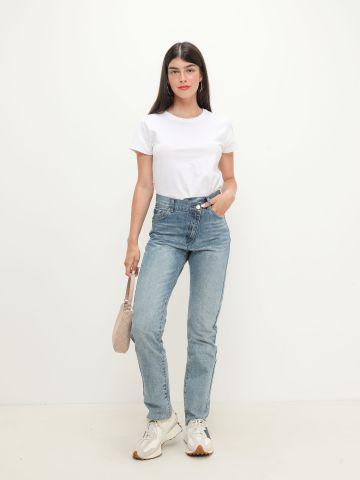 ג'ינס ארוך בסגנון קרוס של TERMINAL X