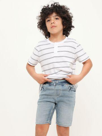 ג'ינס קצר עם גומי מותן של LEVIS
