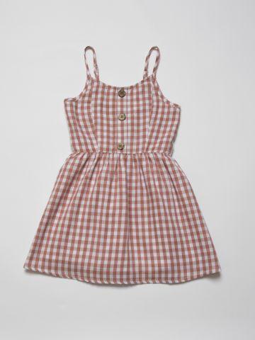 שמלת בהדפס משבצות עם כפתורים / בנות של AMERICAN EAGLE