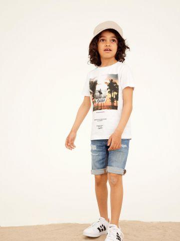 ג'ינס קצר עם קרעים / בנים של NAME IT