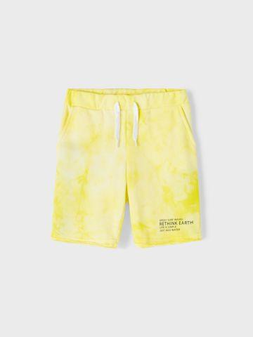 מכנסי טרנינג קצרים בהדפס טאי דאי / בנים של NAME IT