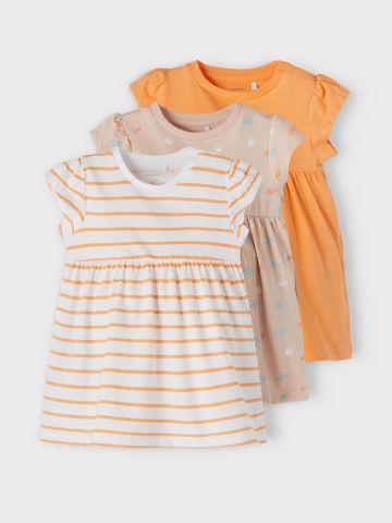 מארז 3 שמלות בצבעים שונים / 1M-1.5Y של NAME IT