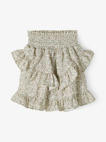 חצאית מיני שכבות בהדפס / בנות של NAME IT