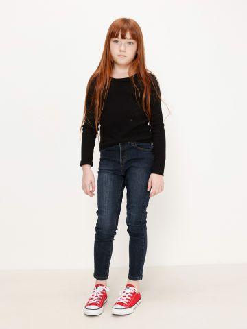 ג'ינס ארוך בשטיפה כהה / בנות של AMERICAN EAGLE