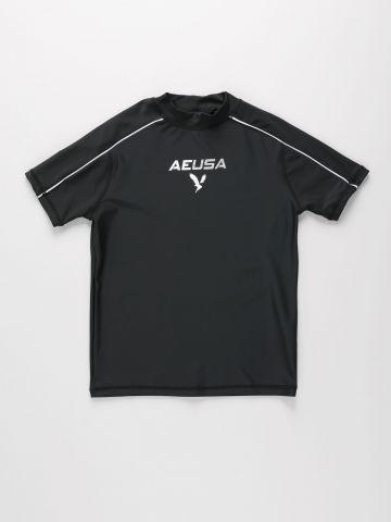 חולצת גלישה עם הדפס לוגו של AMERICAN EAGLE