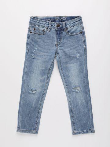 ג'ינס ארוך בשטיפה בהירה / בנות של AMERICAN EAGLE