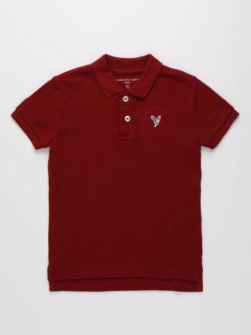 חולצת פולו עם רקמת לוגו / בנים של AMERICAN EAGLE