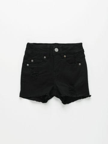 גמכנסי ג'ינס קצרים עם סיומת פרנזים / בנות של AMERICAN EAGLE
