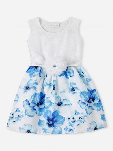 שמלה בשילוב הדפס פרחים / בנות של THE CHILDREN'S PLACE