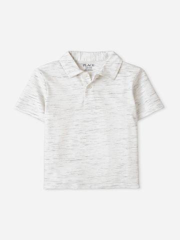 חולצת פולו מלאנז' / בנים של THE CHILDREN'S PLACE