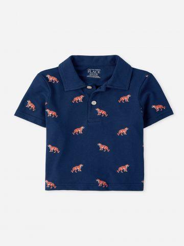 חולצת פולו בהדפס נמרים / 9M-4Y של THE CHILDREN'S PLACE
