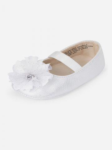נעלי בובה בעיטור פרח / בייבי בנות של THE CHILDREN'S PLACE