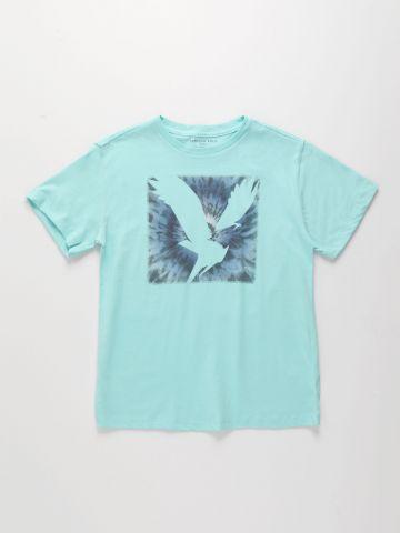 טי שירט עם הדפס לוגו / 4Y-16Y של AMERICAN EAGLE