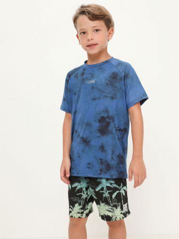 מכנסי בגד ים בהדפס דקלים של AMERICAN EAGLE