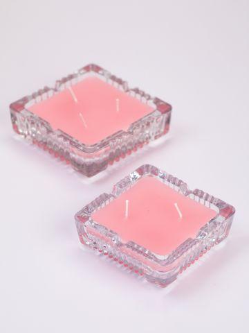 נר ריחני Diamond בקריסטל מרובע של VAZI VAZI