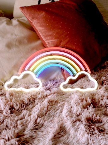 שלט נאון קשת בענן של VAZI VAZI