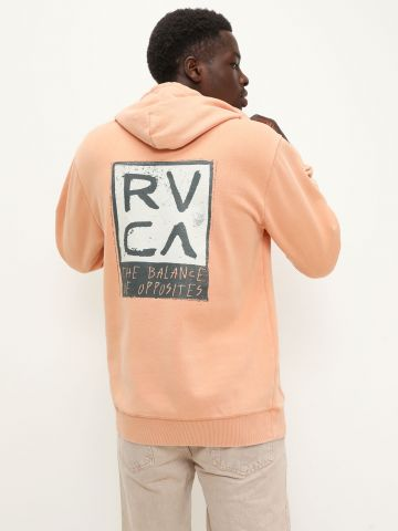 סווטשירט עם הדפס לוגו של RVCA