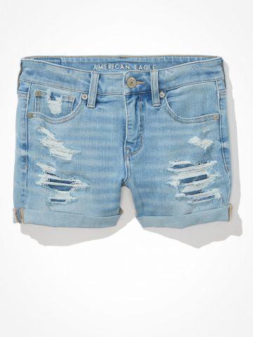 ג'ינס קצר עם קרעים / נשים של AMERICAN EAGLE