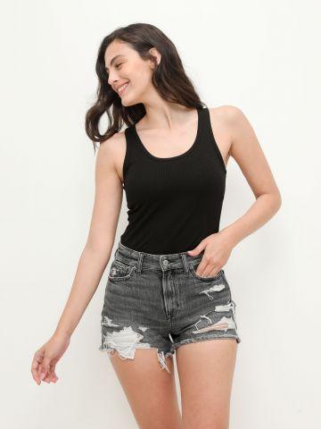 ג'ינס קצר ווש עם קרעים / נשים של AMERICAN EAGLE