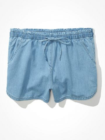 מכנסיים קצרים עם כיווצים / נשים של AMERICAN EAGLE
