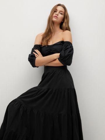 חצאית מקסי בסגנון קומות של MANGO