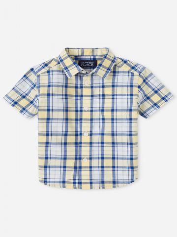 חולצה מכופתרת בהדפס משבצות / 9M-4Y של THE CHILDREN'S PLACE