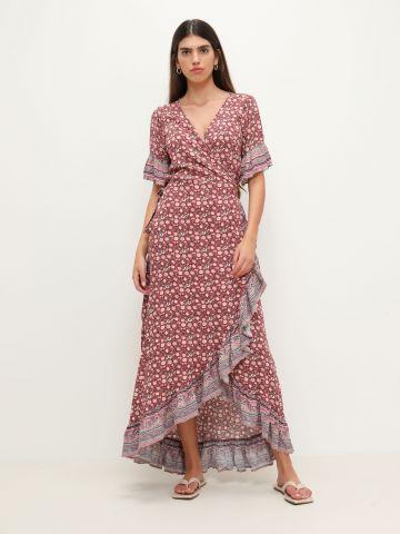 שמלת מקסי אתנית בגזרת מעטפת של AMERICAN EAGLE