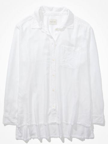 חולצת פשתן מכופתרת קלאסית / נשים של AMERICAN EAGLE